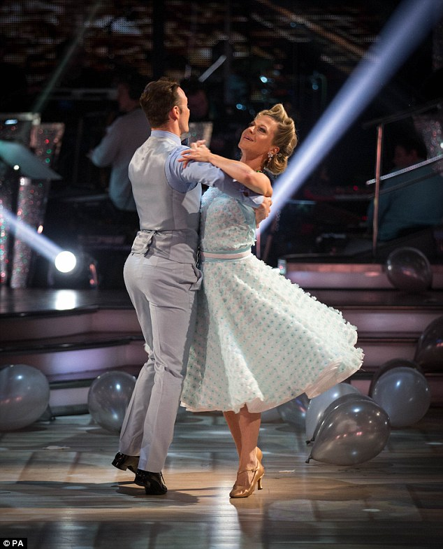 Not like her EastEnders character! Kellie Bright cut a timeless figure as she moved along the floor with Kevin Clifton, was was equally attractive in a fitted suit