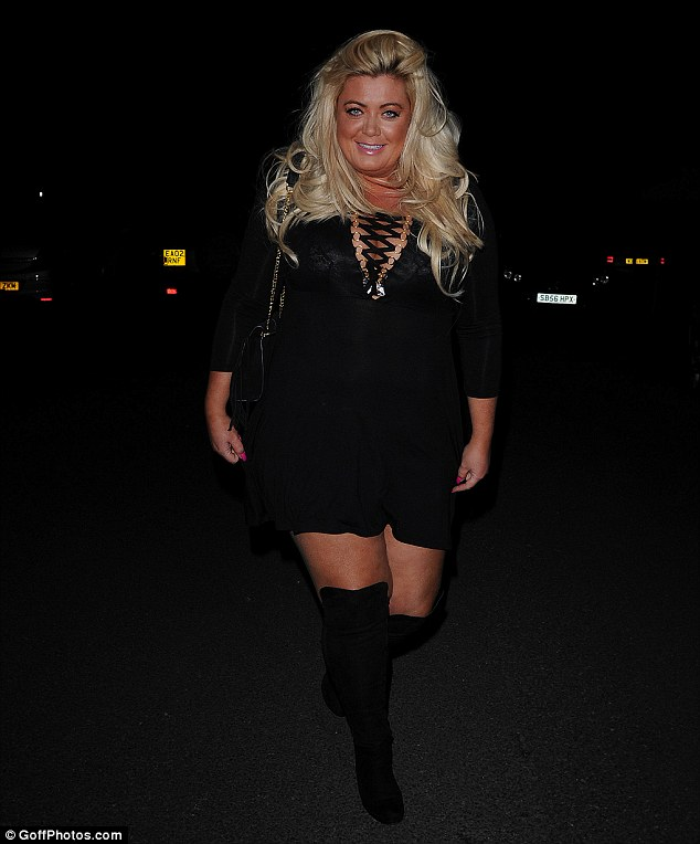 Sexy shape:Chloe was joined on her night out by a host of her reality TV co-stars including a newly slimmed down Gemma Collins - who looked sensational in a skimpy black dress