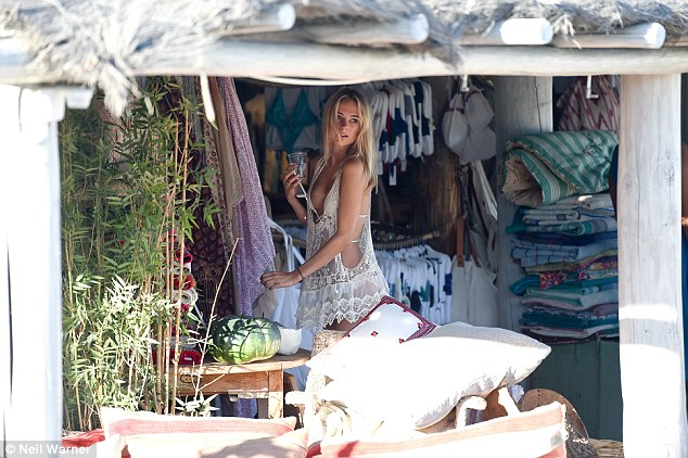 Home from home: Kimberley is currentlysearching for a weekend abode for her regular jaunts to the sunny climes of St Tropez