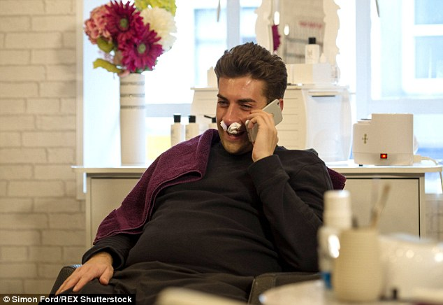 Beauty is pain! James 'Arg' Argent is willing to do whatever it takes to win back his girlfriend's heart as he endured a painful nose waxing session in a salon in his native Essex earlier this week