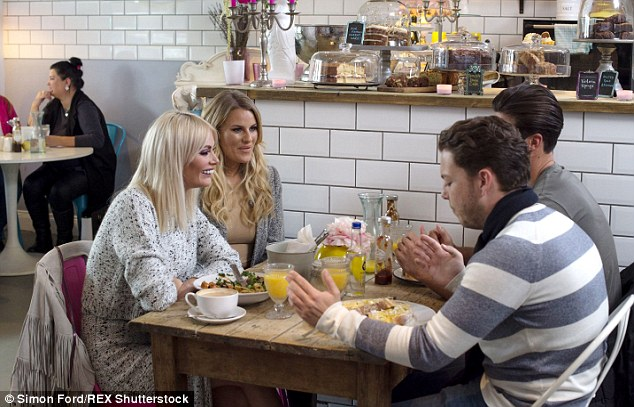 Turning to the girls! But it wasn't just the fellas giving the 24-year-old some love advice, as he was also seen enjoying a lunch date with Chloe Sims and Danielle Armstrong