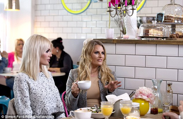 Here's the plan... Looking typically glamorous as they sipped on their drinks, the girls offered the lovelorn electrician tips on winning back his former flame