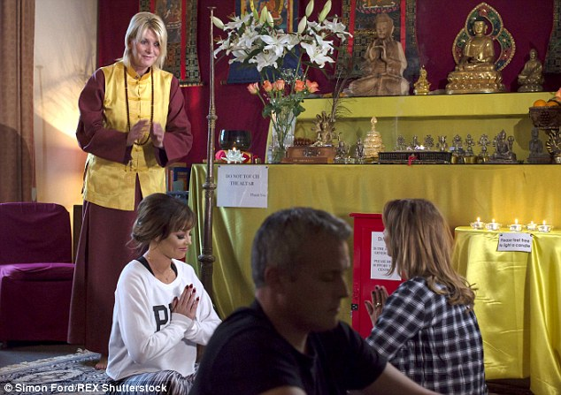 Not all unlucky in love! Jessica Wright and Ferne McCann met for some meditation at a local Buddhist Centre, where they chatted about their double date with Liam Blackwell and Peter Wicks