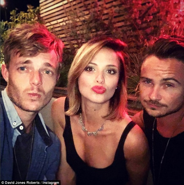 Pout and about: They also went out to dinner with another friend