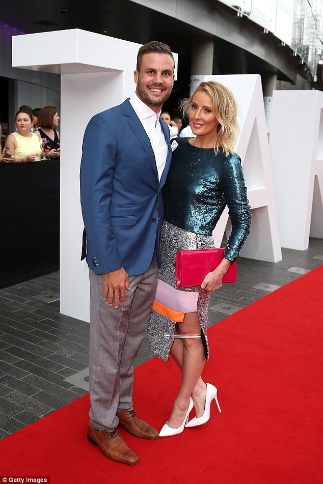 Scandal: It comes after news of her affair with NRL Footy Show star Beau Ryan, pictured here with his wife Kara, came to light