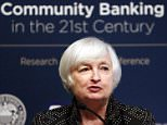 Federal Reserve Chair Janet Yellen speaks to a conference of bankers and financial leaders at the Federal Reserve Bank of St. Louis Wednesday, Sept. 30, 2015, in St. Louis. (AP Photo/Jeff Roberson)