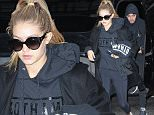 Mandatory Credit: Photo by Startraks Photo/REX Shutterstock (5262864a)\n Gigi Hadid and Joe Jonas\n Gigi Hadid and Joe Jonas out and about, New York, America - 17 Oct 2015\n Joe Jonas and girlfriend Gigi Hadid spotted in TriBeCa\n