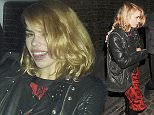 16.OCT.2015 - LONDON - UK ** EXCLUSIVE ALL ROUND PICTURES ** SINGER/ACTRESS BILLIE PIPER LOOKING A LITTLE WORSE FOR WEAR SEEN LEAVING THE CHILTERN FIREHOUSE WITH TWO MALE COMPANIONS BYLINE MUST READ : XPOSUREPHOTOS.COM ***UK CLIENTS - PICTURES CONTAINING CHILDREN PLEASE PIXELATE FACE PRIOR TO PUBLICATION*** UK CLIENTS MUST CALL PRIOR TO TV OR ONLINE USAGE PLEASE TELEPHONE 0208 344 2007