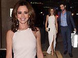 Cheryl Fernandez Versini and Her Husband Jean Bernard are pictured arriving at Ant and Dec's 40th Birthday Party in London.   Pictured: Cheryl Fernandez Versini,  Ref: SPL1151208  151015   Picture by:  Splash News  Splash News and Pictures Los Angeles: 310-821-2666 New York: 212-619-2666 London: 870-934-2666 photodesk@splashnews.com