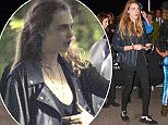 Super Model Cara Delevingne goes to the Janet Jackson Concert at the Forum in Los Angeles, Ca  Pictured: Cara Delevingne Ref: SPL1153656  161015   Picture by: MONEY$HOT / Splash News  Splash News and Pictures Los Angeles: 310-821-2666 New York: 212-619-2666 London: 870-934-2666 photodesk@splashnews.com