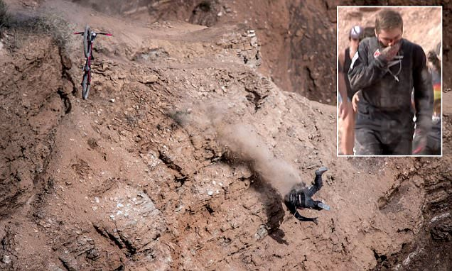 See this mountain biker fall off the side of a CLIFF in Utah