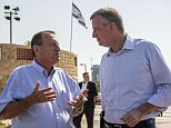 Mayor of New York Bill de Blasio (R) speaks with the Mayor of Tel Aviv Ron Huldai (L) at the Tel Aviv promenade, on October 17, 2015 in the Israeli Mediterranean coastal city of Tel Aviv. Mayor Bill de Blasio visits Israel for a three-day trip, on a familiar pilgrimage for New York City politicians. The Mayor also expected to visit Jerusalem, where he will speak about combating anti-Semitism to a gathering of mayors sponsored by the American Jewish Congress and other Jewish groups. AFP PHOTO / JACK GUEZJACK GUEZ/AFP/Getty Images