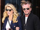 New York, NY - Christie Brinkley and her new boyfriend John Mellencamp are all smiles as they leave their hotel arm in arm in New York.     AKM-GSI       October 16, 2015 To License These Photos, Please Contact : Steve Ginsburg (310) 505-8447 (323) 423-9397 steve@akmgsi.com sales@akmgsi.com or Maria Buda (917) 242-1505 mbuda@akmgsi.com ginsburgspalyinc@gmail.com