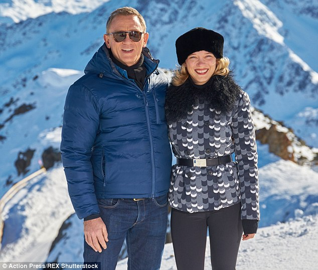 'He is the perfect James Bond – the best ever, I think, serious and strong as well as intelligent. We have the same sense of humour. There was a real complicity,' said Lea of Daniel Craig