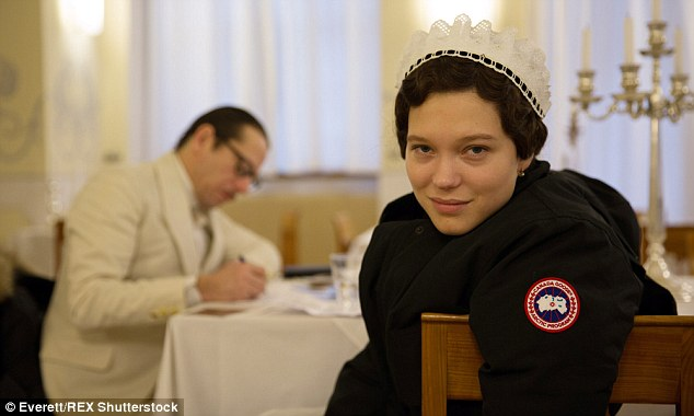 'I think there is something very authentic about French women. They don't try too hard. They are sophisticated in a way that's very natural and charming,' said Lea (pictured as Clotilde in The Grand Budapest Hotel)