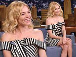 THE TONIGHT SHOW STARRING JIMMY FALLON -- Episode 0352 -- Pictured: Actress Sienna Miller on October 16, 2015 -- (Photo by: Douglas Gorenstein/NBC/NBCU Photo Bank via Getty Images)