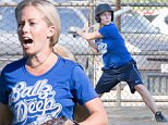 Picture Shows: Kendra Wilkinson  October 16, 2015\n \n Couple Kendra Wilkinson and Hank Baskett are seen playing a softball game for their team 'Ballz Deep' in Los Angeles, California. Also joining their team for the first time this season is former NFL receiver Terrell Owens.\n \n Non-Exclusive\n UK RIGHTS ONLY\n \n Pictures by : FameFlynet UK � 2015\n Tel : +44 (0)20 3551 5049\n Email : info@fameflynet.uk.com