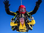 OIC - ENTSIMAGES.COM - EXCLUSIVE FEES MUST BE AGREED BEFORE USE-  Maisie Williams   takes part in charity skydive in aid of Mencap and The Dolphin Project.Dukeswell Airfield, Devon  17th oct  2015 Photo Yvonne Wallin Ents Images/OIC 0203 174 1069