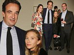 NEW YORK, NY - OCTOBER 15: Mary-Kate Olsen (2nd L) and Olivier Sarkozy (2nd R) attend 2015 Take Home a Nude Art Auction and Party at Sotheby's on October 15, 2015 in New York City.  (Photo by Mireya Acierto/Getty Images)