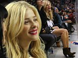 NEW YORK, NY - OCTOBER 17:  ChloÎ Grace Moretz attend sthe game between the New York Islanders and the San Jose Sharks at the Barclays Center on October 17, 2015 in the Brooklyn borough of New York City.  (Photo by Bruce Bennett/Getty Images)