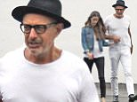 eURN: AD*184817624  Headline: Jeff Goldblum and wife Emilie Livingston out and about in West Hollywood. Caption: Jeff Goldblum and wife Emilie Livingston out and about in West Hollywood.  Pictured: Jeff Goldblum,Emilie Livingston. Ref: SPL1152005  161015   Picture by: JLM / Splash News  Splash News and Pictures Los Angeles: 310-821-2666 New York: 212-619-2666 London: 870-934-2666 photodesk@splashnews.com  Photographer: JLM / Splash News Loaded on 17/10/2015 at 01:48 Copyright: Splash News Provider: JLM / Splash News  Properties: RGB JPEG Image (13775K 1431K 9.6:1) 1959w x 2400h at 300 x 300 dpi  Routing: DM News : GroupFeeds (Comms), GeneralFeed (Miscellaneous) DM Showbiz : SHOWBIZ (Miscellaneous) DM Online : Online Previews (Miscellaneous), CMS Out (Miscellaneous)  Parking: