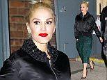 Gwen Stefani wears green plaid pants when departing Hammerstein Ballroom in NYC  Pictured: Gwen Stefani Ref: SPL1153451  161015   Picture by: Jackson Lee/Splash  Splash News and Pictures Los Angeles: 310-821-2666 New York: 212-619-2666 London: 870-934-2666 photodesk@splashnews.com