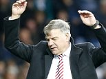 Sunderland's  Manager  Sam Allardyce shows his frustration during the Barclays Premier League match between West Bromwich Albion and Sunderland AFC played at The Hawthorns, West Bromwich, on October 17th 2015