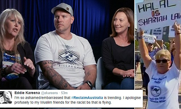 Reclaim Australia founders' appear on Channel Seven's Sunday Night program