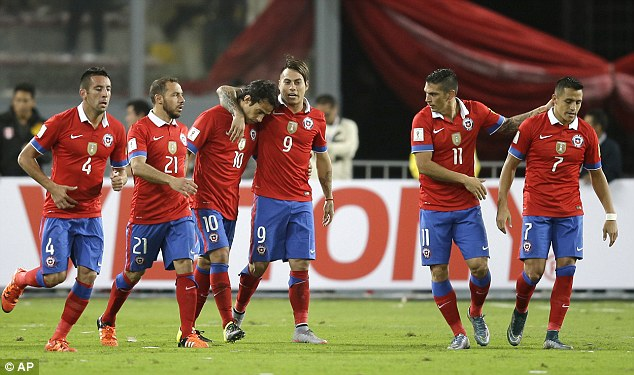 Chile are level with Ecuador and Uruguay on six points in the 2018 World Cup qualifying standings
