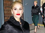 Gwen Stefani wears green plaid pants when departing Hammerstein Ballroom in NYC  Pictured: Gwen Stefani Ref: SPL1153451  161015   Picture by: Jackson Lee/Splash  Splash News and Pictures Los Angeles: 310-821-2666 New York: 212-619-2666 London: 870-934-2666 photodesk@splashnews.com