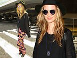 Behati Prinsloo is seen at LAX in Los Angeles, California.\n\nPictured: Behati Prinsloo\nRef: SPL1154273  171015  \nPicture by: GVK/Bauergriffin.com\n\n