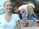 Picture Shows: Cameron Diaz  October 16, 2015\n \n Actress Cameron Diaz gets food to go in Hollywood, California. Reports say that she is supposedly pregnant with twins.\n \n Exclusive all round\n UK RIGHTS ONLY\n \n Pictures by : FameFlynet UK © 2015\n Tel : +44 (0)20 3551 5049\n Email : info@fameflynet.uk.com