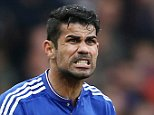 Chelsea's Brazilian-born Spanish striker Diego Costa gestures after a decision by the referee during the English Premier League football match between Chelsea and Aston Villa at Stamford Bridge in London, on October 17, 2015. AFP PHOTO / JUSTIN TALLIS RESTRICTED TO EDITORIAL USE. No use with unauthorized audio, video, data, fixture lists, club/league logos or 'live' services. Online in-match use limited to 75 images, no video emulation. No use in betting, games or single club/league/player publications.JUSTIN TALLIS/AFP/Getty Images