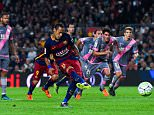BARCELONA, SPAIN - OCTOBER 17:  Neymar of FC Barcelona scores his team's second goal from the penalty spot during the La Liga match between FC Barcelona and Rayo Vallecano at the Camp Nou stadium on October 17, 2015 in Barcelona, Spain.  (Photo by David Ramos/Getty Images)