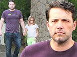 Please contact X17 before any use of these exclusive photos - x17@x17agency.com   Such an hansome Dad! Ben Affleck  showing off new face and new bod in Palisades sunday morning oct 18, 2015 X17online.com