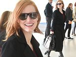 EXCLUSIVE: Jessica Chasten is all smiles carrying her Givenchy purse as she arrives at JFK airport in NYC.\n\nPictured: Jessica Chastain\nRef: SPL1154201  171015   EXCLUSIVE\nPicture by: Ron Asadorian / Splash News\n\nSplash News and Pictures\nLos Angeles: 310-821-2666\nNew York: 212-619-2666\nLondon: 870-934-2666\nphotodesk@splashnews.com\n