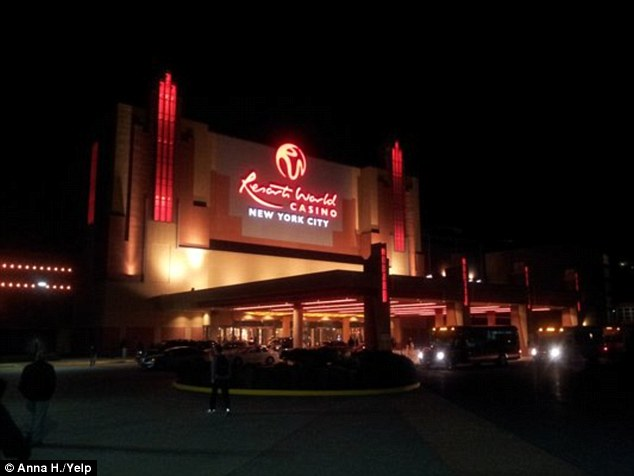 Scene: The fisticuffs took place at Resorts World Casino, near JFK airport in Queens, New York