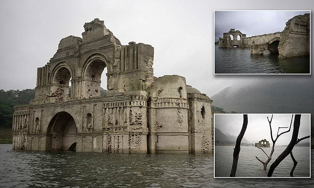 Dropping water levels in Mexican reservoir reveal the hidden remains of a 400-year-old