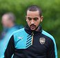 Football - Arsenal Training - Arsenal Training Ground - 19/10/15  Arsenal's Theo Walcott and team mates during training  Action Images via Reuters / Tony O'Brien  Livepic  EDITORIAL USE ONLY.