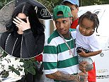 Picture Shows: Tyga, King Stevenson  October 18, 2015    Rapper Tyga takes his son King and some friends out for dinner at the Yang Chow restaurant in Los Angeles, California. King turned 3 a couple of days ago and celebrated his birthday with the Kardashian family at Racer's Edge in Burbank.     Non Exclusive  UK RIGHTS ONLY    Pictures by : FameFlynet UK © 2015  Tel : +44 (0)20 3551 5049  Email : info@fameflynet.uk.com