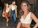 17.10.15...... Nikki Sanderson from Hollyoaks leaves Neighbourhood Bar in Manchester on Saturday night with her boyfriend Greg Whitehurst.
