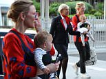 19 October 2015 EXCLUSIVE PHOTOS - Aussie actress Cate Blanchett arrives into Sydney airport with baby Edith after a short trip to..London after playing sold out theatre shows. MUST CREDIT: DIIMEX.COM