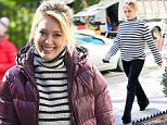 """Hilary Duff seen wearing a black and white sweater on the set of """"Younger"""" in New York City\n\nPictured: Hilary Duff\nRef: SPL1154194  191015  \nPicture by: RobO/Splash News\n\nSplash News and Pictures\nLos Angeles: 310-821-2666\nNew York: 212-619-2666\nLondon: 870-934-2666\nphotodesk@splashnews.com\n"""