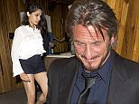Sean Penn seen celebrating Freida Pinto's 31st birthday at 'The Nice Guy' Bar in West Hollywood, CA. Freida and Sean both left separately, but Sean decided to put his Suit jacket up over his head so he wouldn't be recognized.  Pictured: Sean Penn Ref: SPL1155051  191015   Picture by: SPW / Splash News  Splash News and Pictures Los Angeles: 310-821-2666 New York: 212-619-2666 London: 870-934-2666 photodesk@splashnews.com
