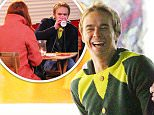 .Coronation Streets David Platt (played by Jack Shepherd) is out Christmas shopping when he bumps into a ver upset Marion Logan (played by Susan Cookson) and a policeman. His face changes as he fears that the murder of her son Callum has caught up with him but soon realises that she has had her purse stolen with her only baby pictures of her son in it. David plays the concerned friend and sits her down for a chat and buys her a cup of coffee before lending her some money to get home...... 19.10.15.