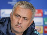 epa04984146 Chelsea manager Jose Mourinho attends a press conference in Kiev, Ukraine, 19 October 2015. Chelsea will face Dynamo Kyiv in the UEFA Champions League group G soccer match at the Olimpiyskiy stadium in Kiev on 20 October 2015.  EPA/SERGEY DOLZHENKO