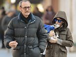 PREMIUM RATES APPLY** EXCLUSIVE TO INF.  October 19, 2015: Terry Richardson, 50, and girlfriend Alexandra Bolotow, 32, are spotted out with Bolotow's dog in New York City this morning. The couple is reportedly expecting their first child together. Mandatory Credit: Ordonez/Cepeda/INFphoto.com Ref: infusny-160/260