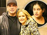 EXCLUSIVE: John Travolta and Kelly Preston are seen all smiling while posing outside their hotel in New York City, the couple where checking out their hotel with their daughter\n\nPictured: John Travolta and Kelly Preston\nRef: SPL1154043  181015   EXCLUSIVE\nPicture by: Felipe Ramales / Splash News\n\nSplash News and Pictures\nLos Angeles: 310-821-2666\nNew York: 212-619-2666\nLondon: 870-934-2666\nphotodesk@splashnews.com\n