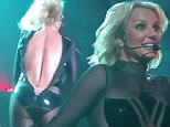 Britney Spears suffers a wardrobe malfunction during her Piece of Me show in Las Vegas on Friday, Oct. 17.