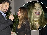 EXCLUSIVE: Sofia Vergara and her fiance Joe Manganiello carry a big wad of cash were seen leaving 'Mastro's' Steakhouse in Beverly Hills, CA. Sofia was wearing a Thick gold choker necklace, jeans and a sheer black top while Joe wore a sharp suit.\n\nPictured: Sofia Vergara, Joe Manganiello\nRef: SPL1153842  181015   EXCLUSIVE\nPicture by: SPW / Splash News\n\nSplash News and Pictures\nLos Angeles: 310-821-2666\nNew York: 212-619-2666\nLondon: 870-934-2666\nphotodesk@splashnews.com\n